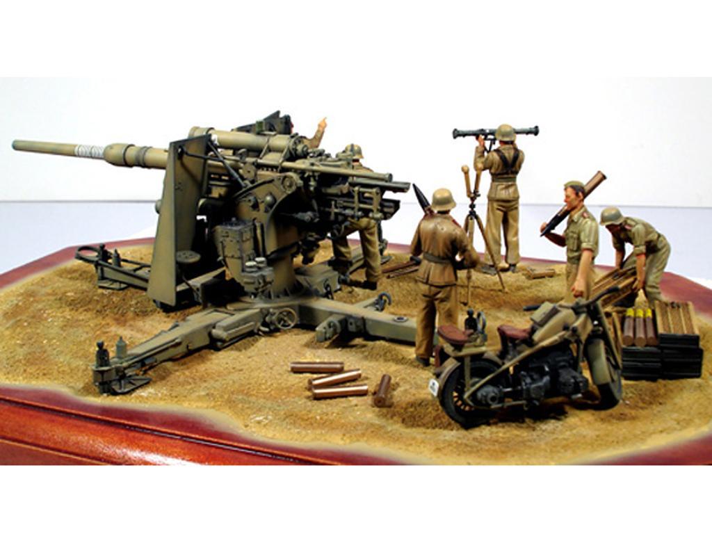 Cañon Aleman  88 mm Flak36 (Vista 4)