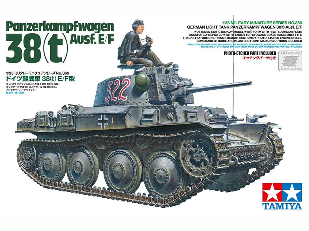 German Light Tank Panzerkampfwagen 38(t) Ausf.E/F (Vista 1)