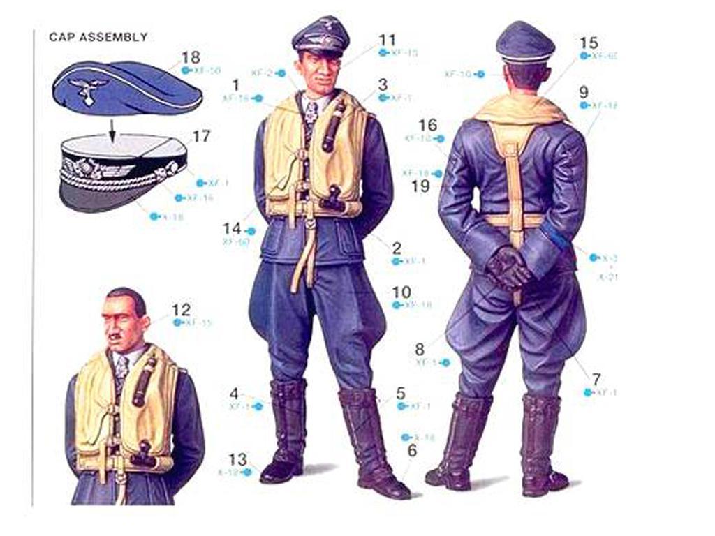 Piloto Aleman de la Luftwaffe (Vista 3)