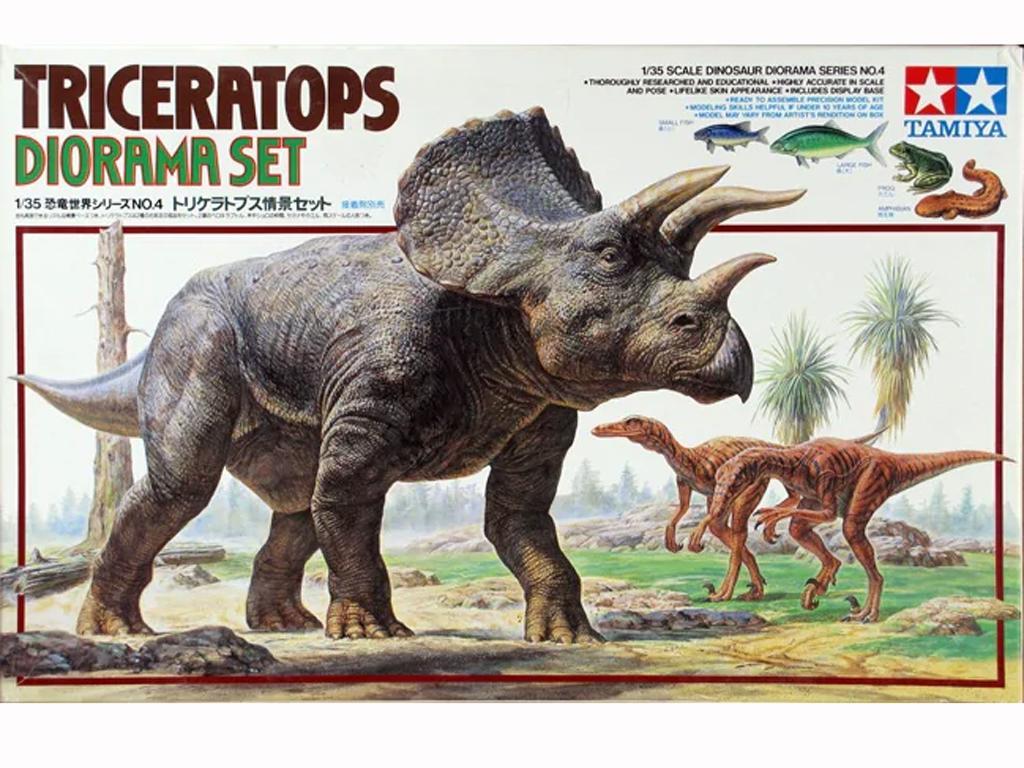 Diorama del Triceratops (Vista 1)
