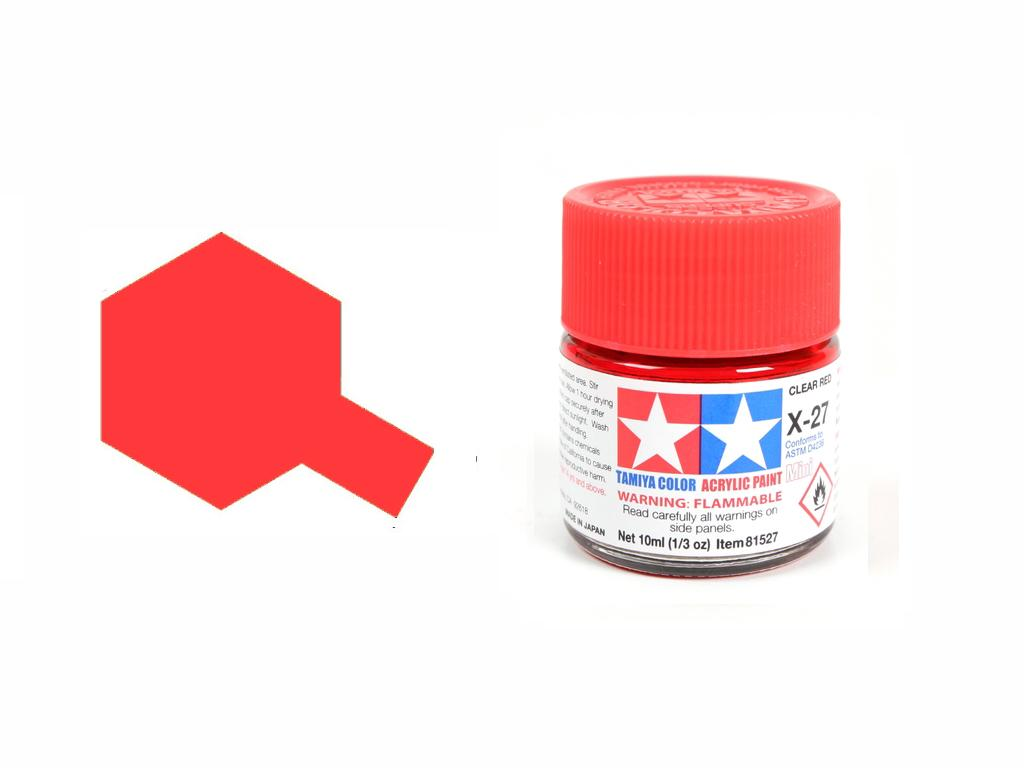 Rojo Transparente X-27 (Vista 1)