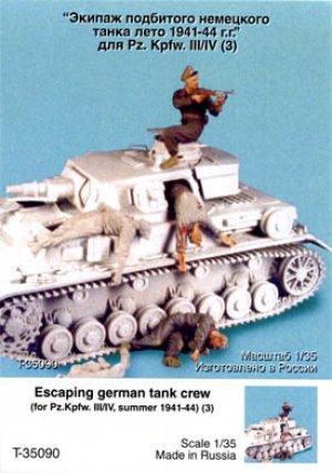 Tripulacion Alemana escapando del Tanke  (Vista 1)