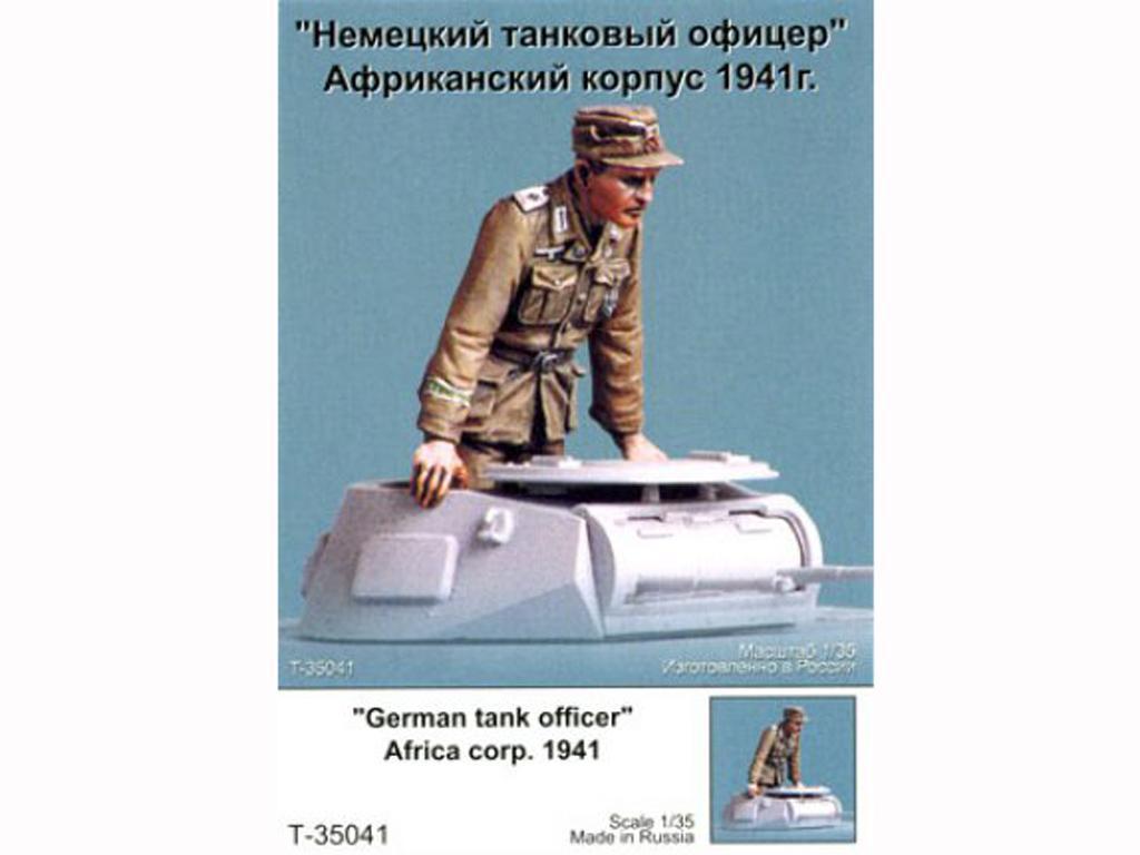 Oficial tanquista Aleman. Afrika Corps 1941. (Vista 1)