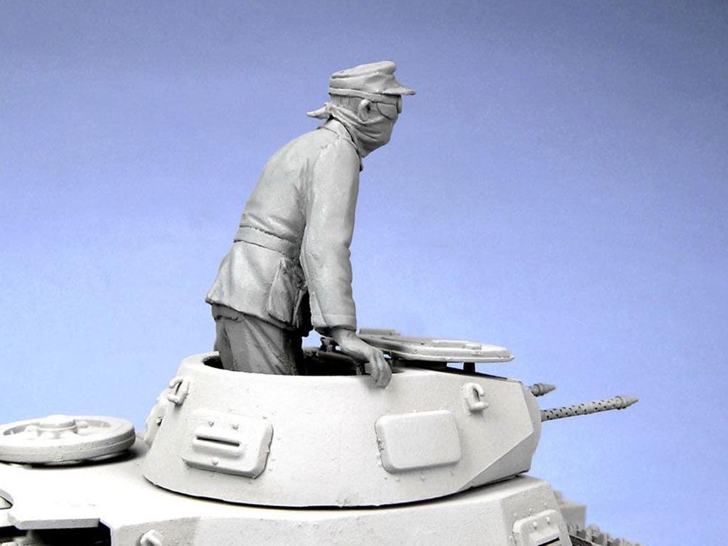 Oficial tanquista Aleman. Afrika Corps 1941. (Vista 3)