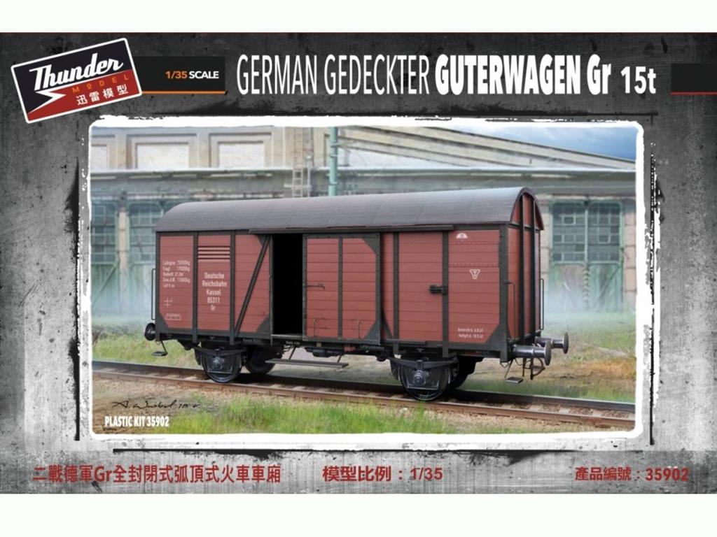 Vagón de carga alemán Gr 15t  - Ref.: THUN-35902