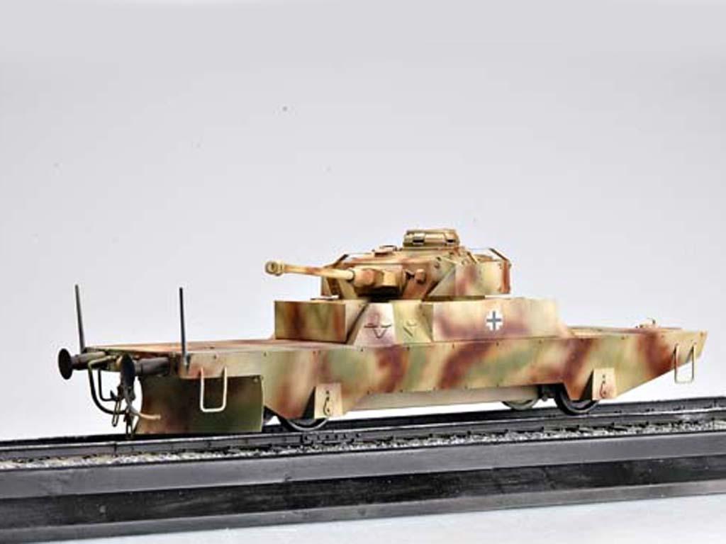 Vagón blindado alemán con torreta Panz  (Vista 2)