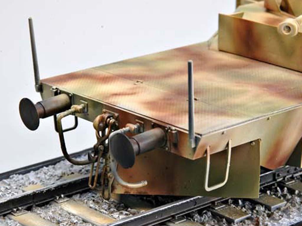 Vagón blindado alemán con torreta Panz  (Vista 6)
