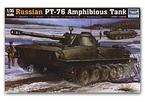 Russian PT-76 Light Amphibious Tank - Ref.: TRUM-00380
