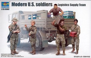 Modern U.S. soldiers – Logistics Supply  - Ref.: TRUM-00429
