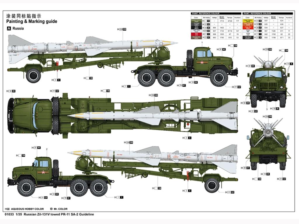 Russian Zil-131V towed PR-11 SA-2 Guidel  (Vista 2)