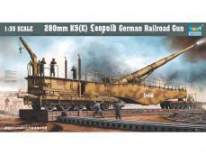 Cañon Aleman sobre via de 280mm K5 Leopo - Ref.: TRUM-00207
