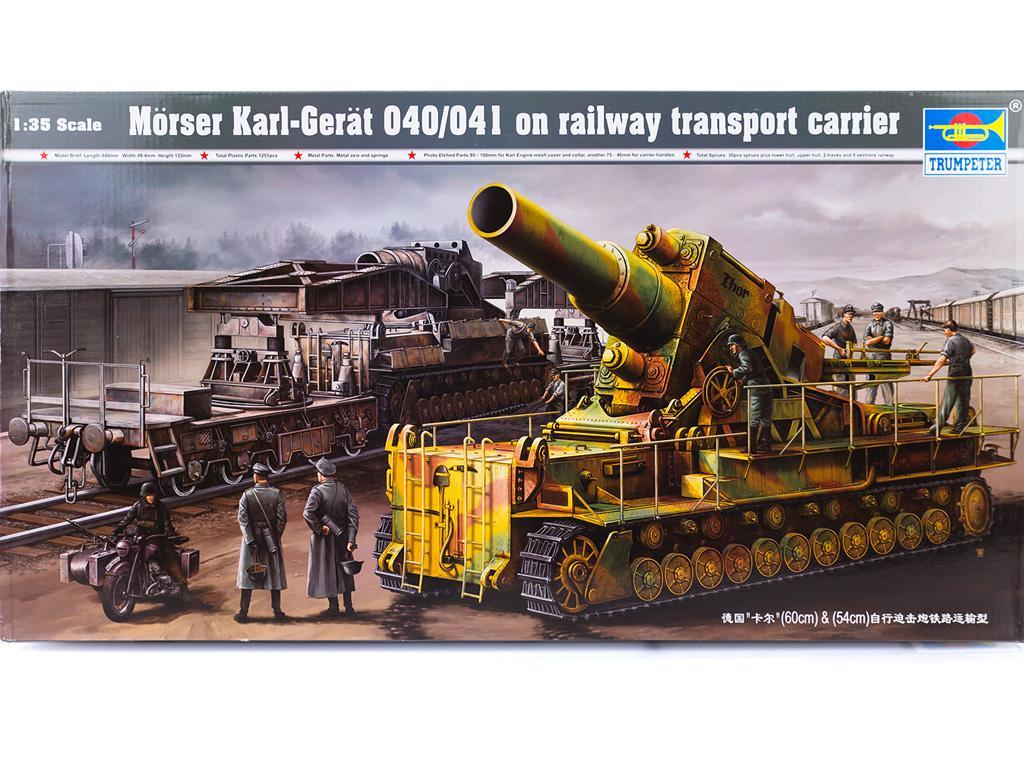 Morser-Karl con vagones de transporte (Vista 1)