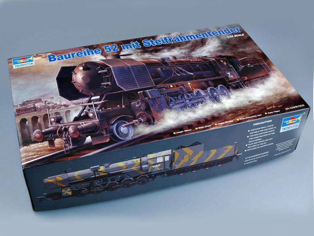 Locomotora Armada Alemana Vapor BR52 (Vista 1)