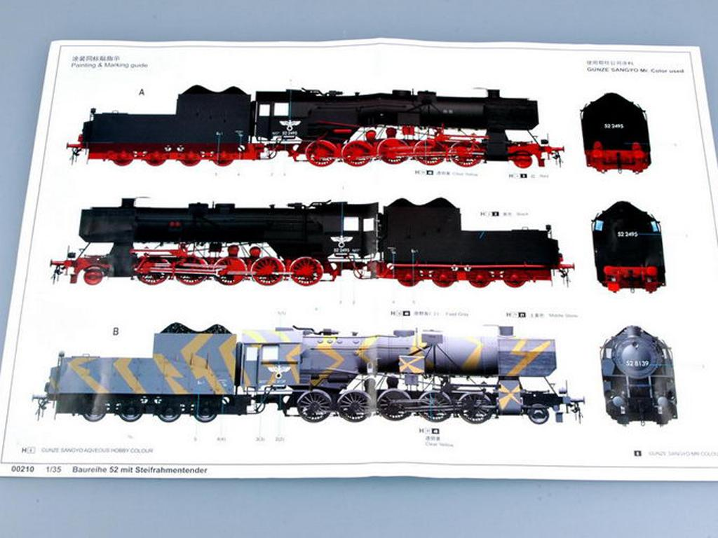 Locomotora Armada Alemana Vapor BR52 (Vista 4)