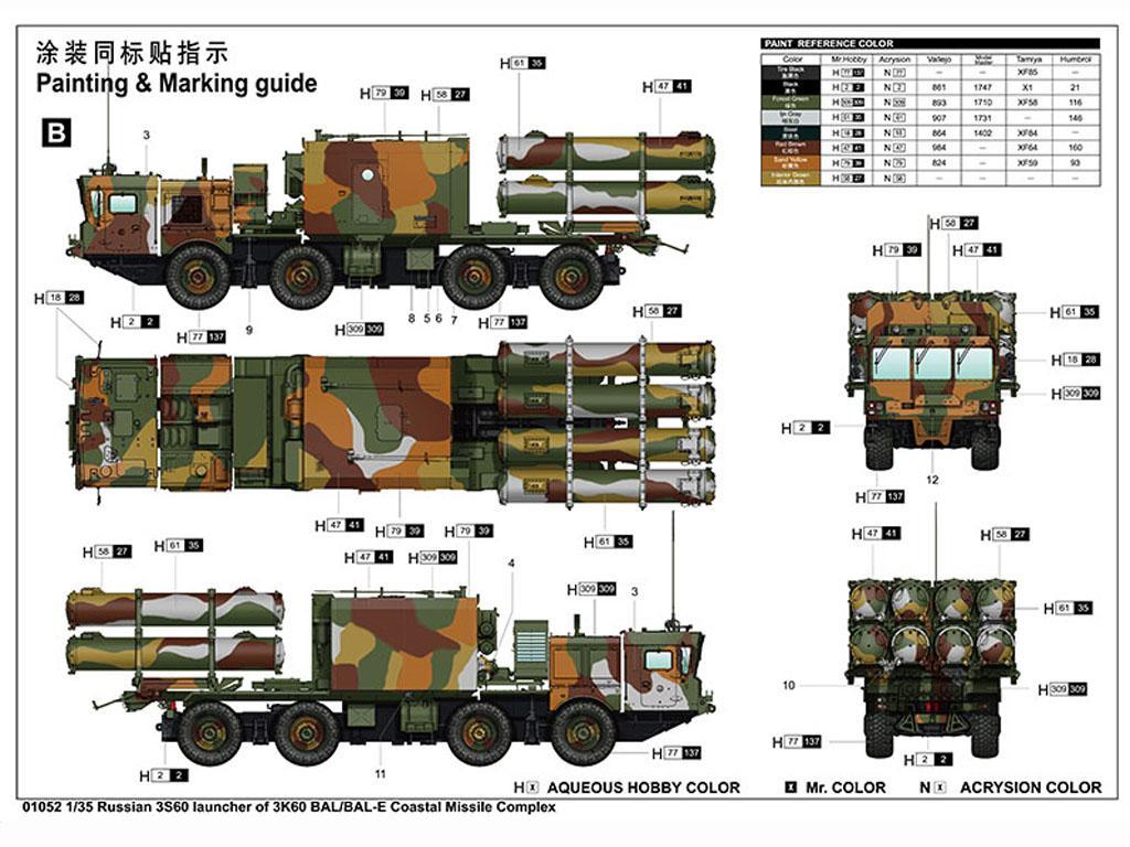 Russian 3S60 launcher of 3K60 BAL/BAL-Elex Coastal Missile Complex (Vista 2)