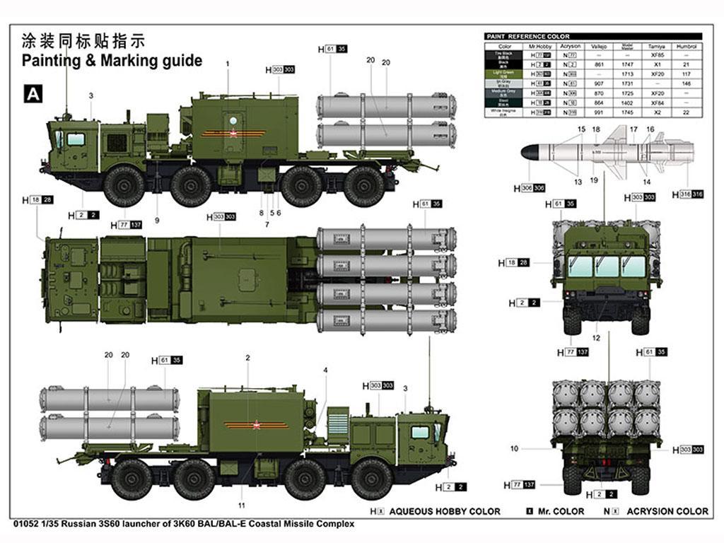 Russian 3S60 launcher of 3K60 BAL/BAL-Elex Coastal Missile Complex (Vista 4)