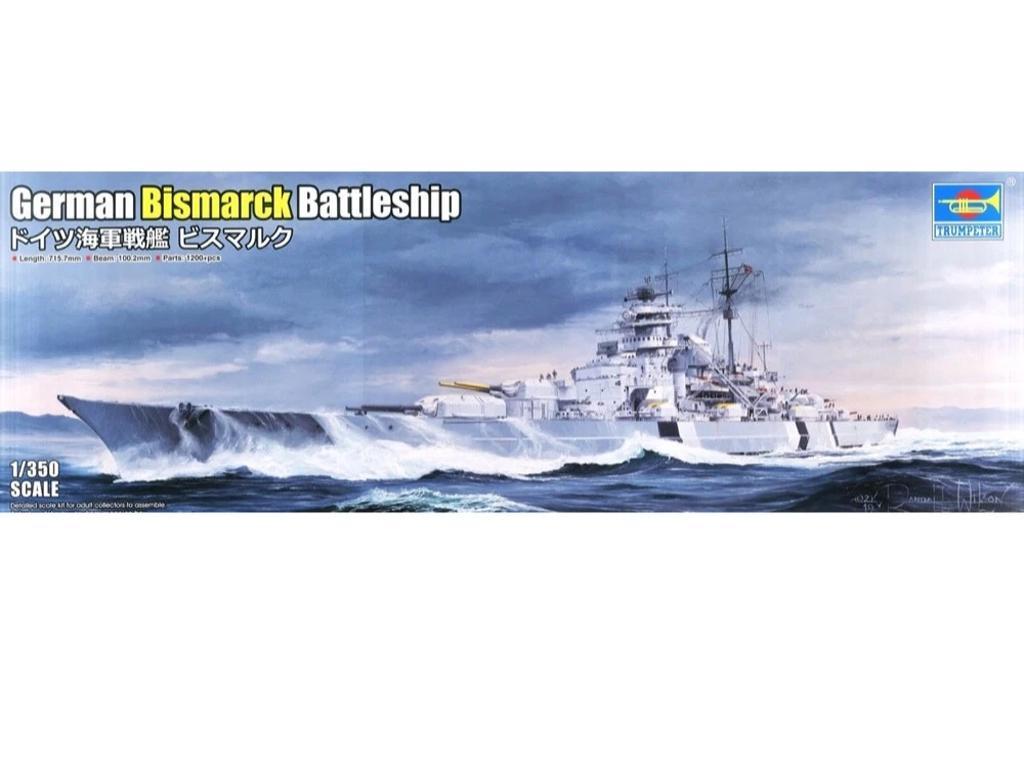 Acorazado Alemán Bismarck (Vista 1)