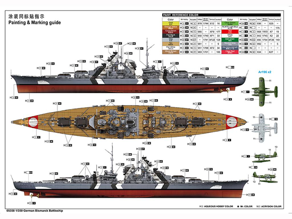 Acorazado Alemán Bismarck (Vista 2)