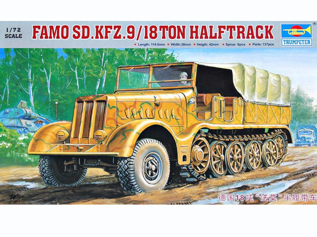Famo Sd.Kfz.9/18 ton halftrack (Vista 1)