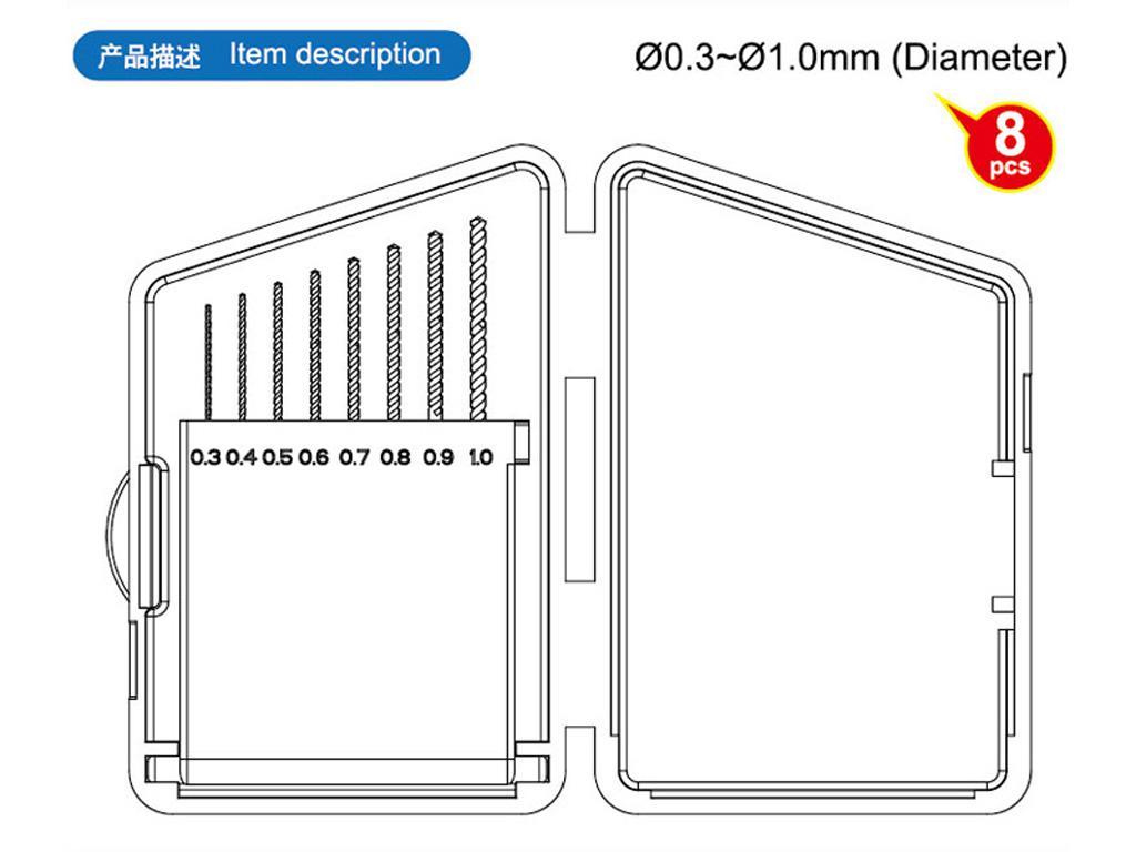 Brocas de 0.3 a 1 mm (Vista 2)