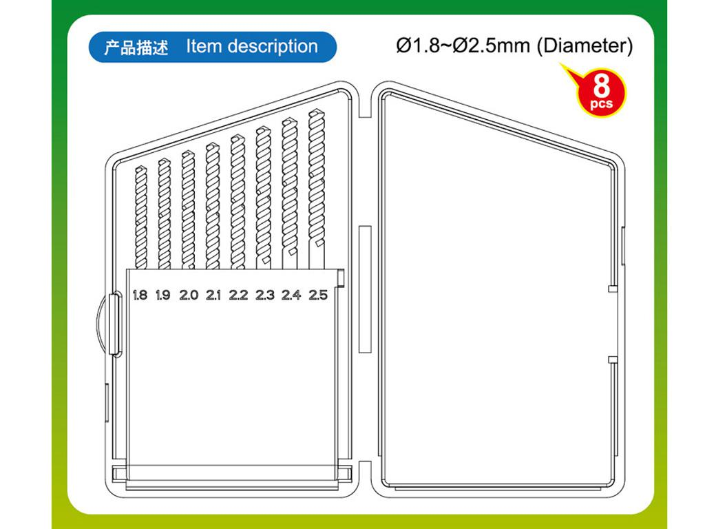 Brocas de 1,8 a 2,5 (Vista 3)