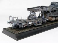 Morser-Karl con vagones de transporte (Vista 10)