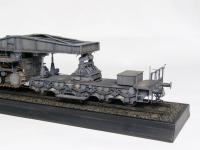 Morser-Karl con vagones de transporte (Vista 11)