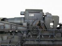 Morser-Karl con vagones de transporte (Vista 12)