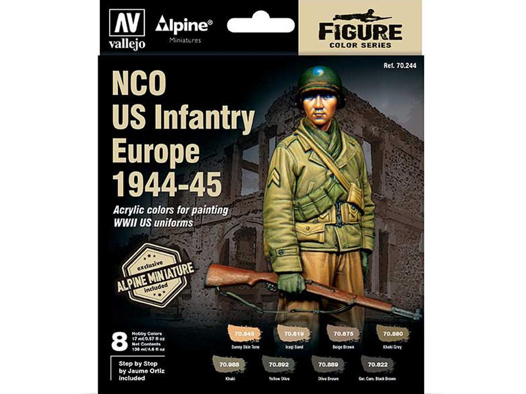Set 8 MC Alpine NCO US Infantry 44-45 + figura