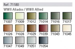 Colores Aliados II Guerra Mundial  (Vista 2)