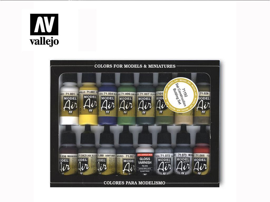 Set 16 Acrylic colors 17 mlBulding Set  (Vista 1)