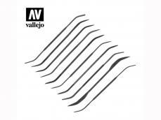 Set de 10 Limas Curvadas - Ref.: VALL-03003