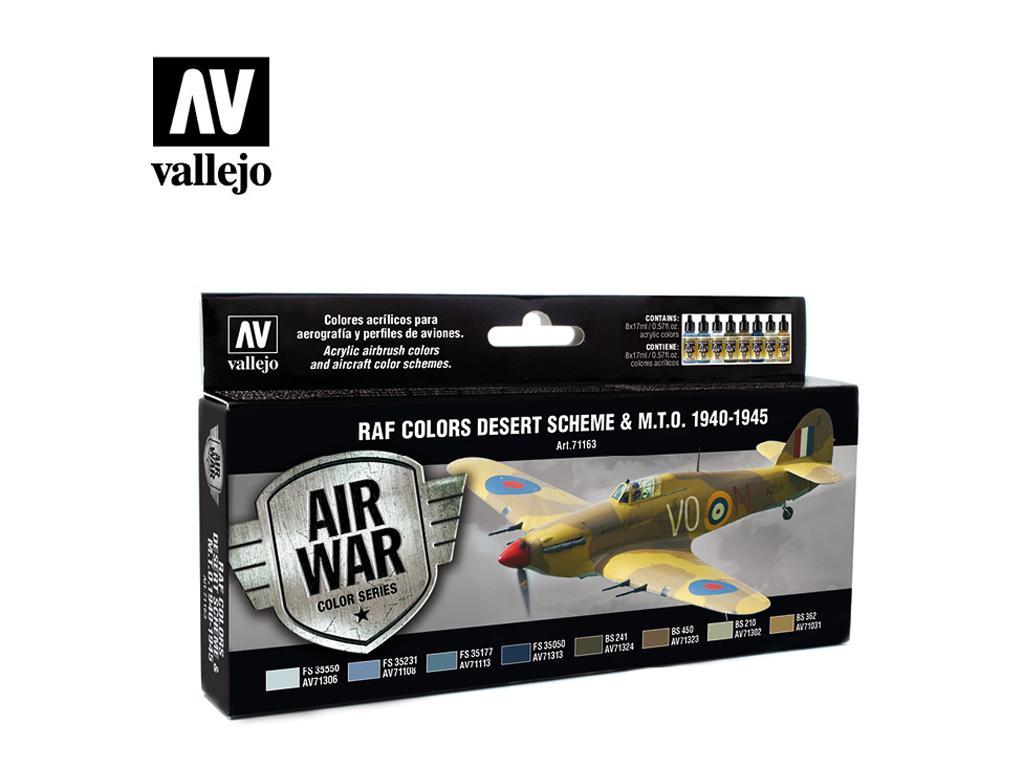 Colores RAF y MTO 1940-1945, Esquema del desierto (Vista 1)