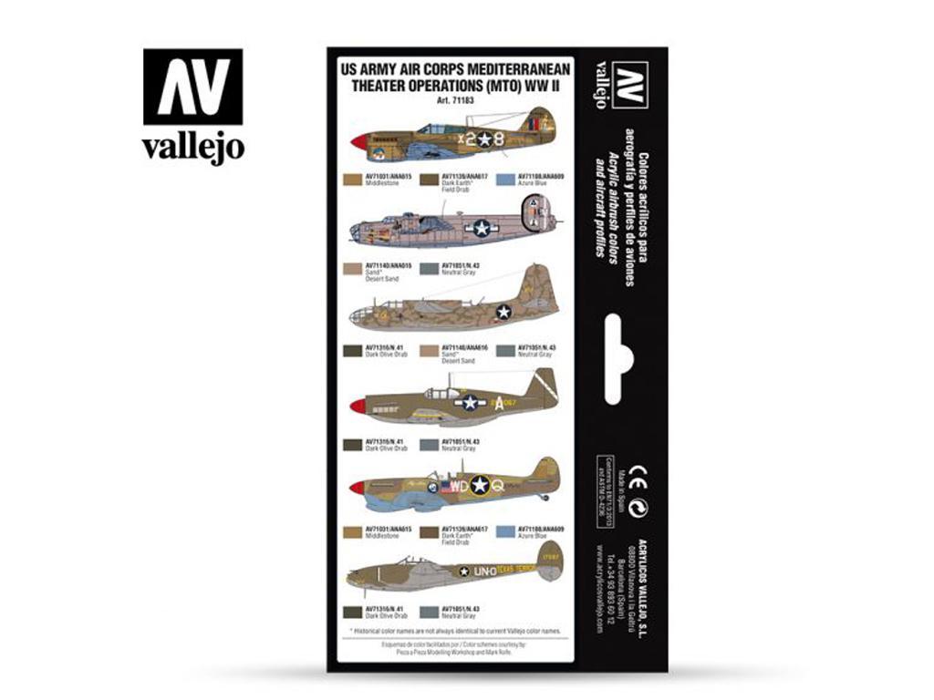 US Army Cuerpo aereo Teatro Mediterráneo de Operaciones (MTO) (Vista 2)