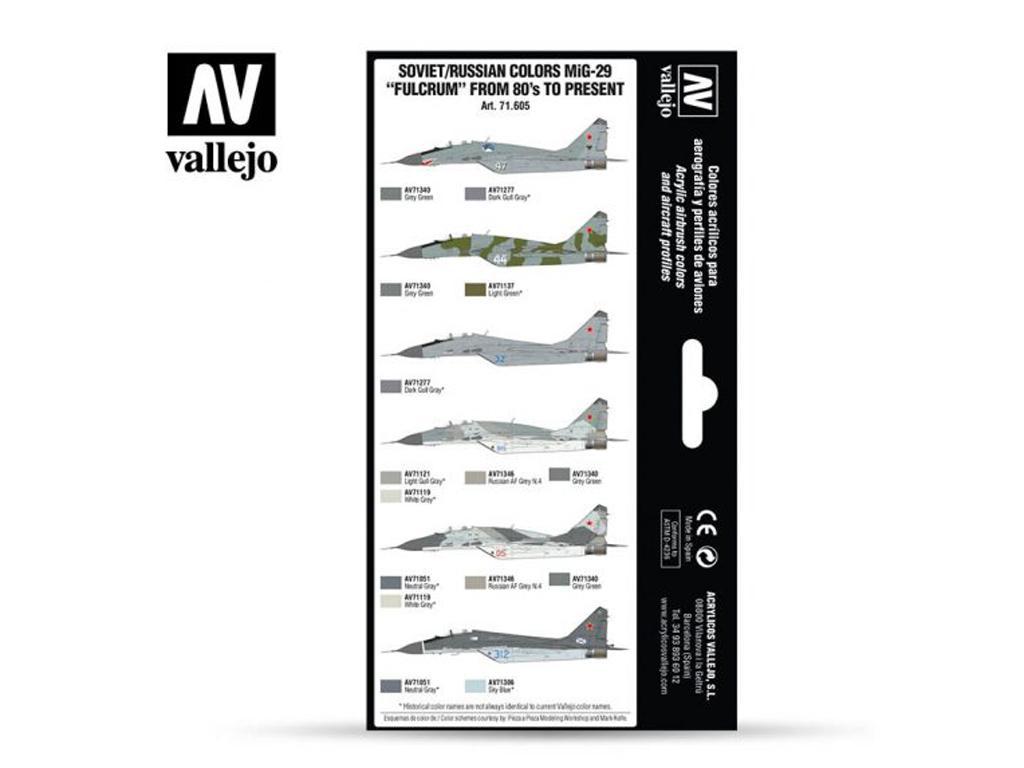Colores Soviéticos / Rusos MiG-29 Fulcru (Vista 2)