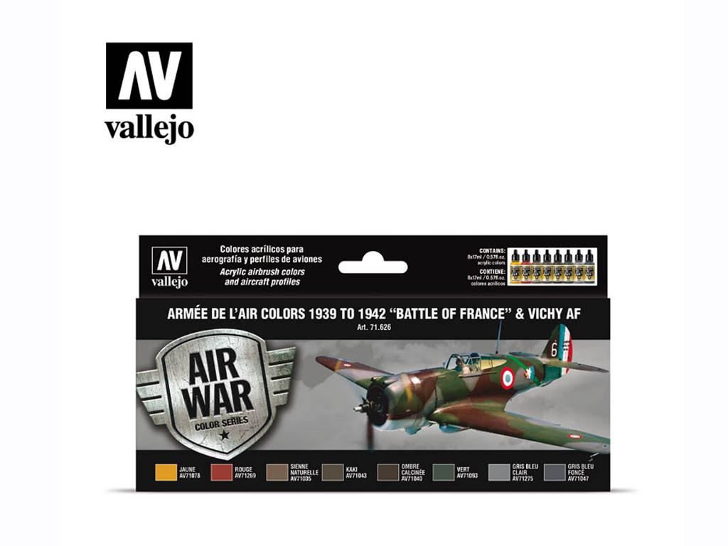 "Armée de l'Air colors 1939 to 1942 ""Battle of France"" & Vichy AF (Vista 1)"