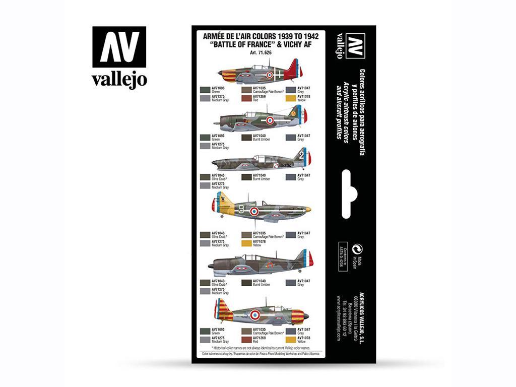 "Armée de l'Air colors 1939 to 1942 ""Battle of France"" & Vichy AF (Vista 2)"