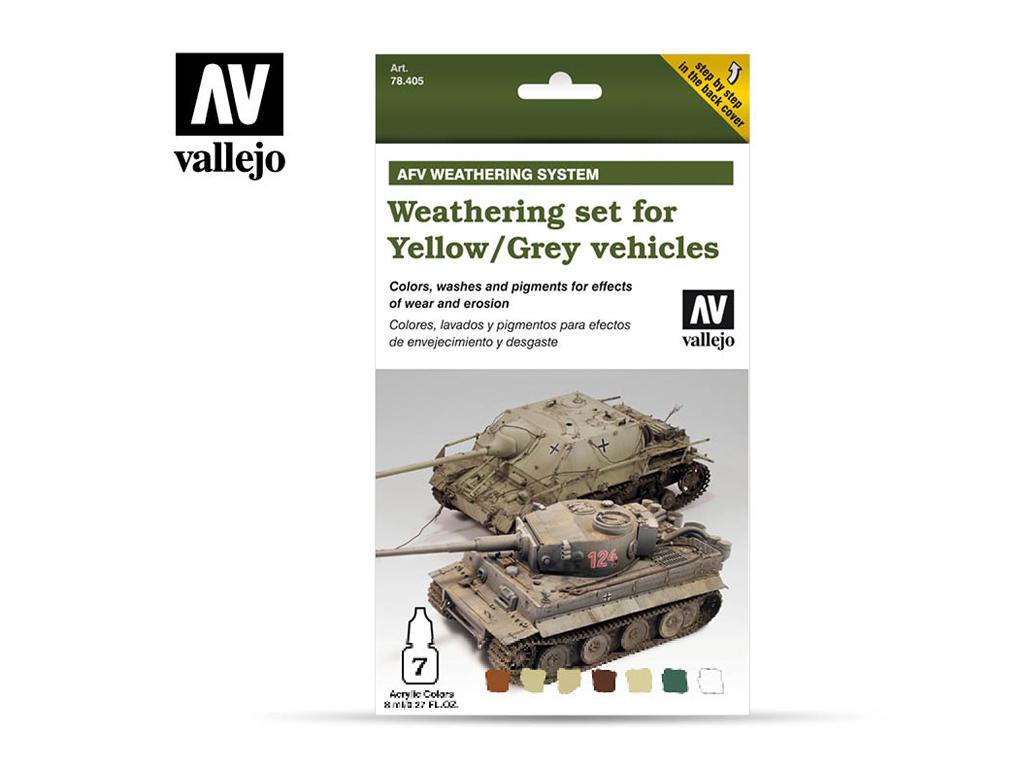 Weathering para vehículos amarillos y grises (Vista 1)