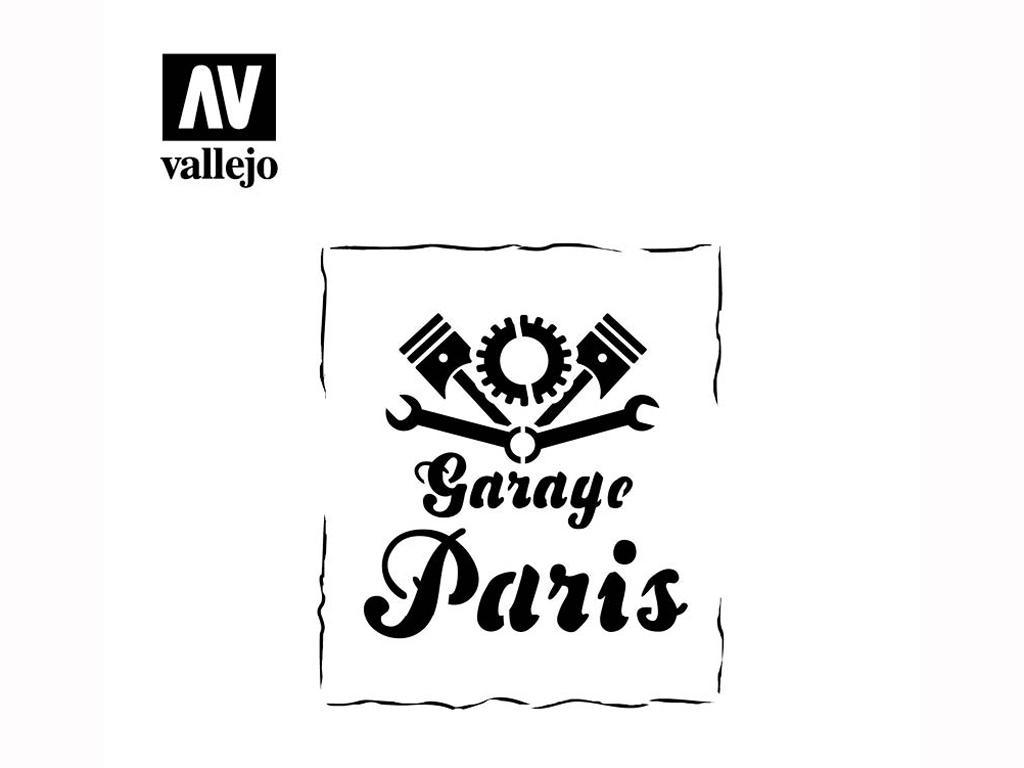 Rótulo de Garaje Vintage (Vista 2)