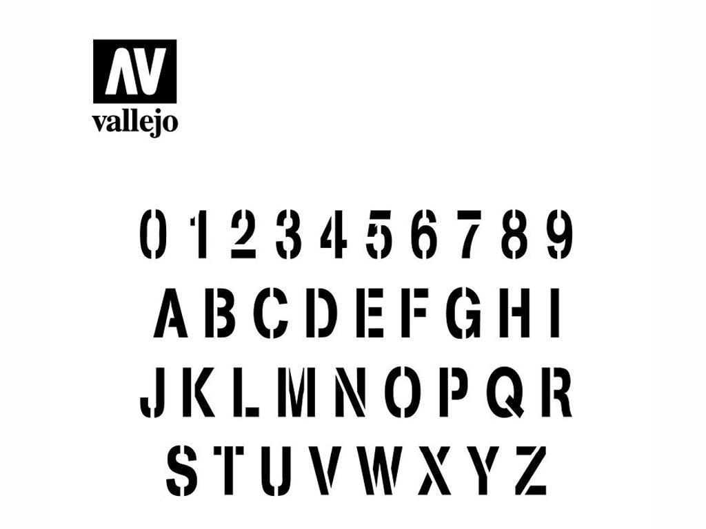 Alfabeto de Estampación (Vista 2)