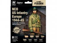 Set 8 MC Alpine NCO US Infantry 44-45 + figura (Vista 2)