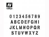 Alfabeto de Estampación (Vista 4)