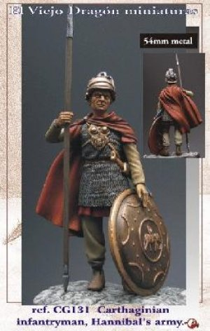 Carthaginian Infantryman - Hannibal  (Vista 1)