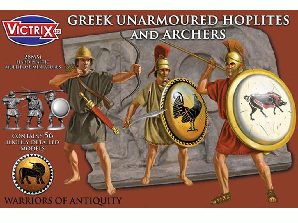 Griegos hoplitas y arqueros (Vista 1)