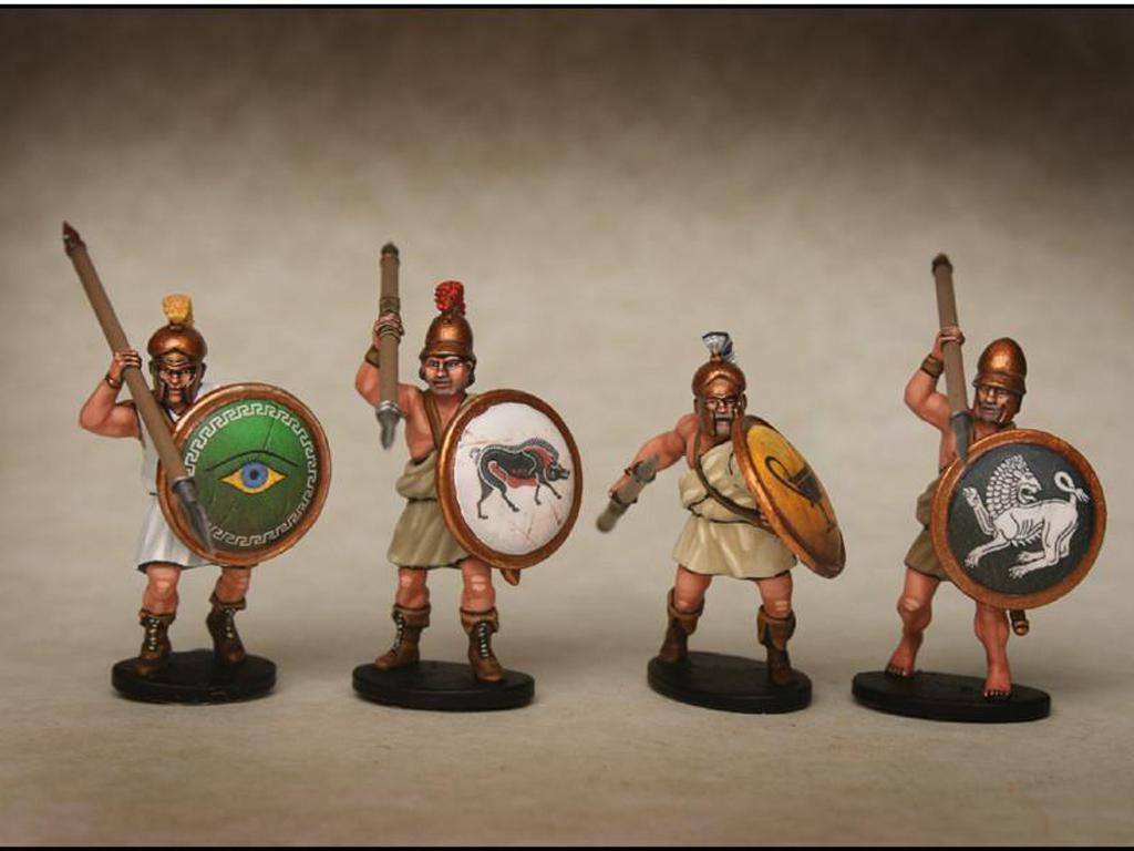 Griegos hoplitas y arqueros (Vista 2)