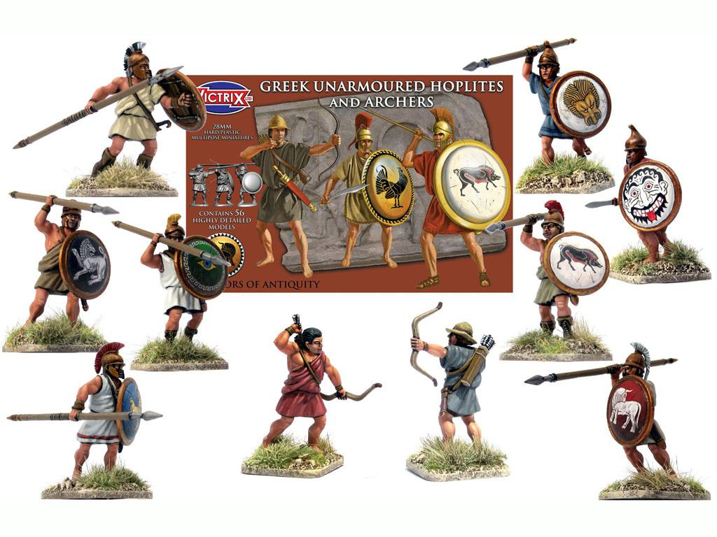 Griegos hoplitas y arqueros (Vista 3)