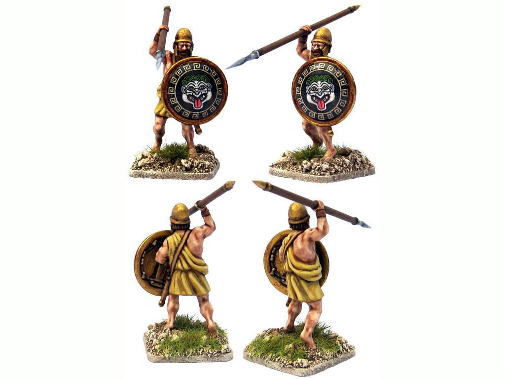 Griegos hoplitas y arqueros (Vista 8)