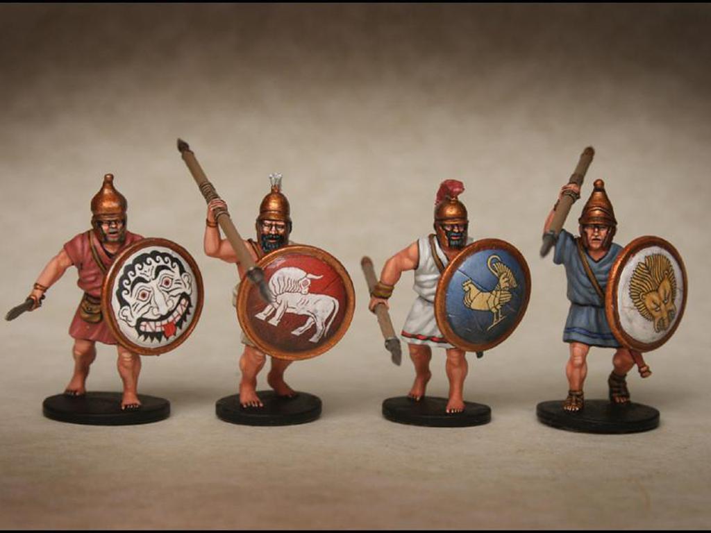 Griegos hoplitas y arqueros (Vista 9)