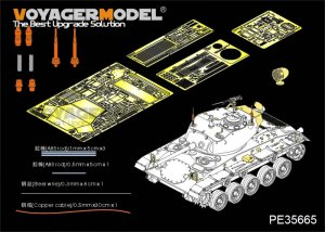 US Army M24 Light tank basic  (Vista 6)