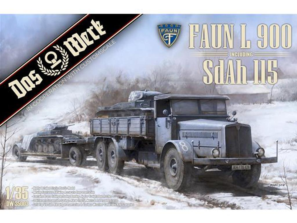 Faun L900 truck and Trailer SdAh 115